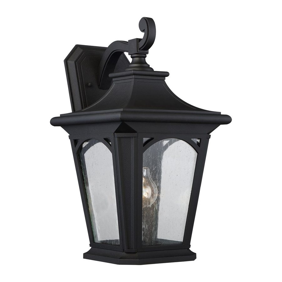 Quoizel Bedford 18.25-in H Mystic Black Outdoor Wall Light