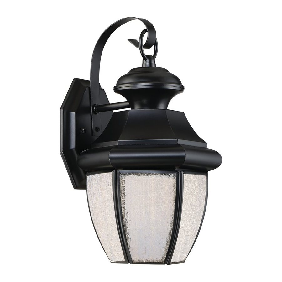 Quoizel Newbury Led 12-in H Led Mystic Black Outdoor Wall Light