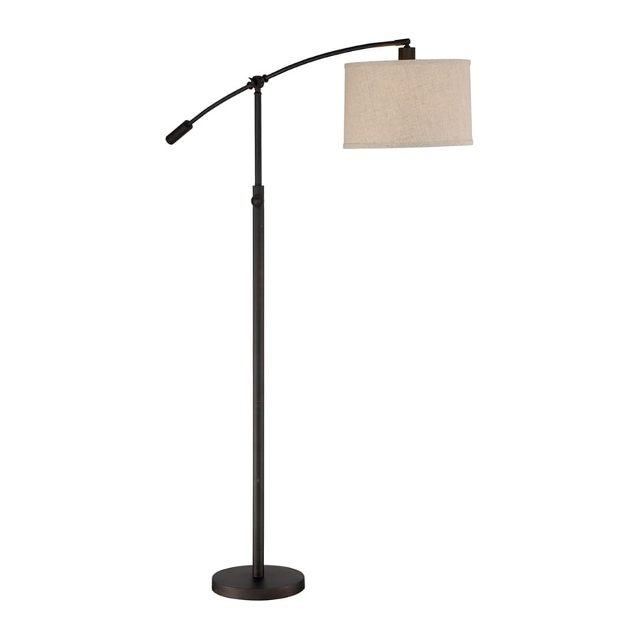 Quoizel Clift 65-in Oil Rubbed Bronze Rotary Socket Downbridge Floor Lamp with Fabric Shade
