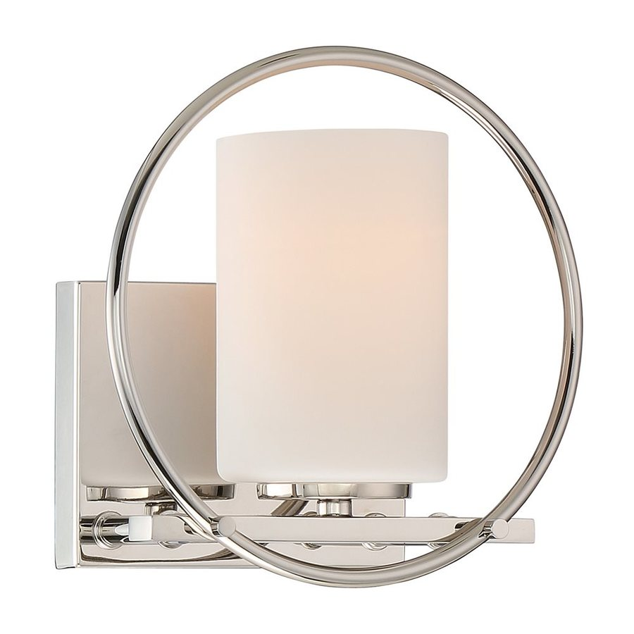 Quoizel Parallel 1-Light 8.25-in Polished Nickel Cylinder Vanity Light