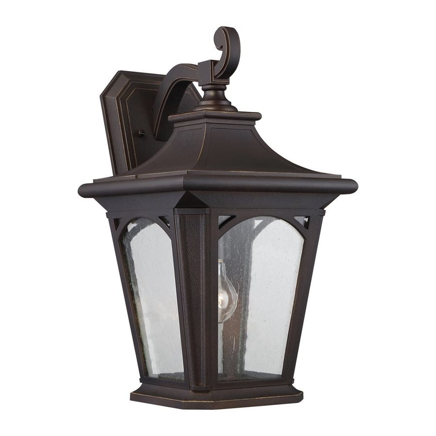 Quoizel Bedford 18.25-in H Palladian Bronze Outdoor Wall Light