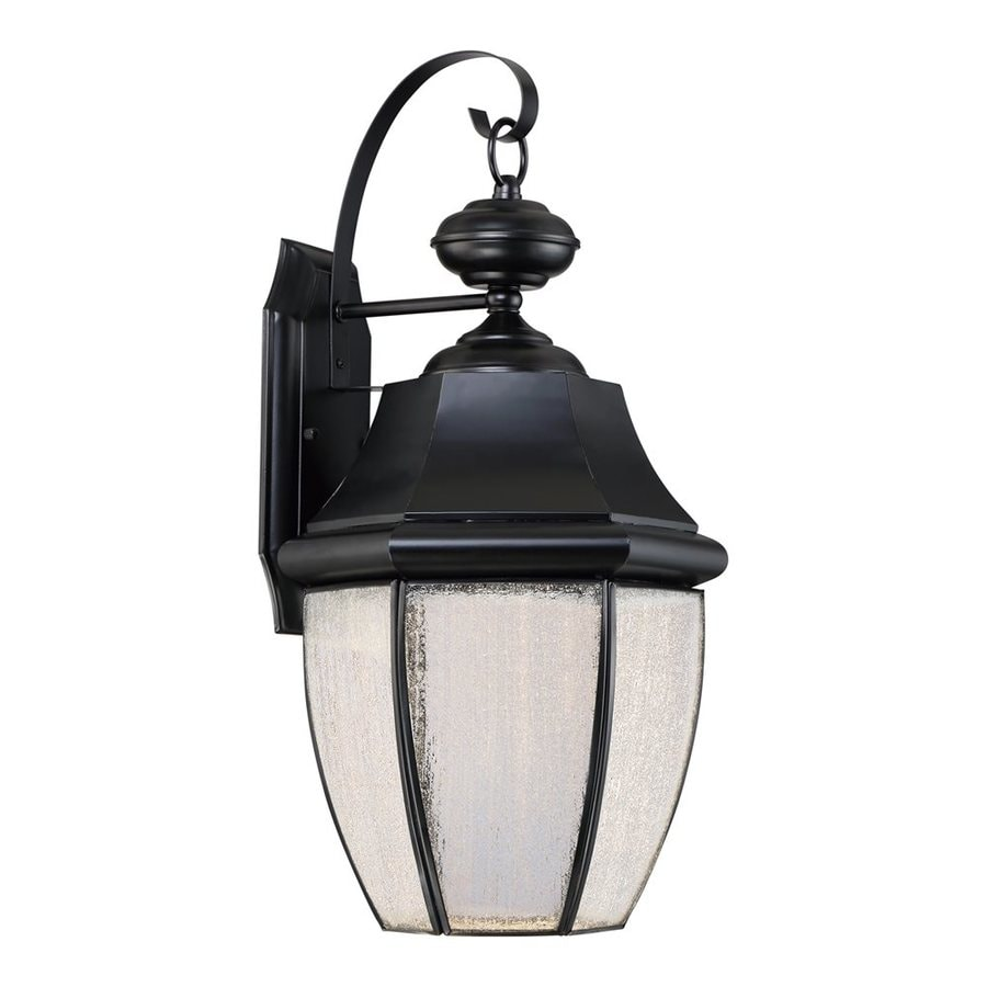 Shop Quoizel Newbury Led 20-in H Led Mystic Black Outdoor Wall Light at Lowes.com