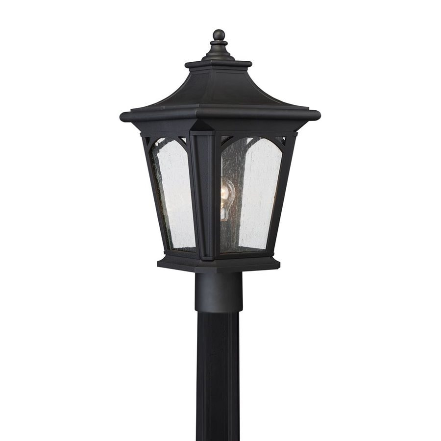 Quoizel Bedford 19-in H Mystic Black Post Light