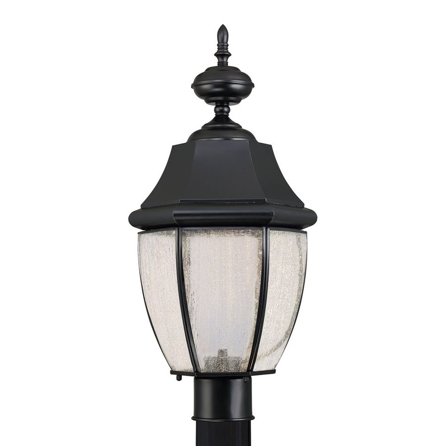 Quoizel Newbury 21.75-in H Mystic Black LED Post Light
