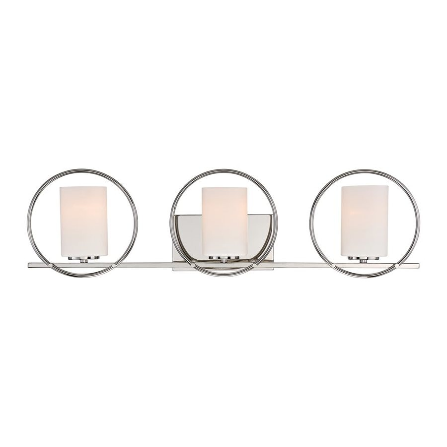 Quoizel Parallel 3-Light 8.25-in Polished Nickel Cylinder Vanity Light