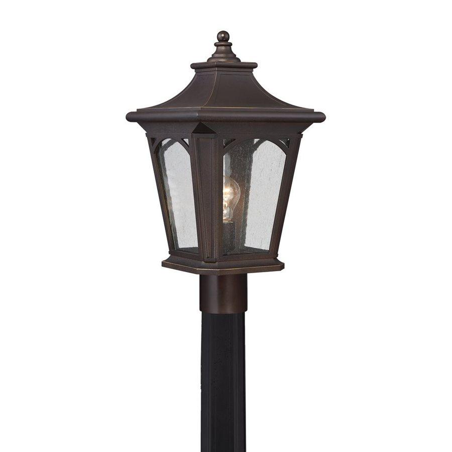 Quoizel Bedford 19-in H Palladian Bronze Post Light