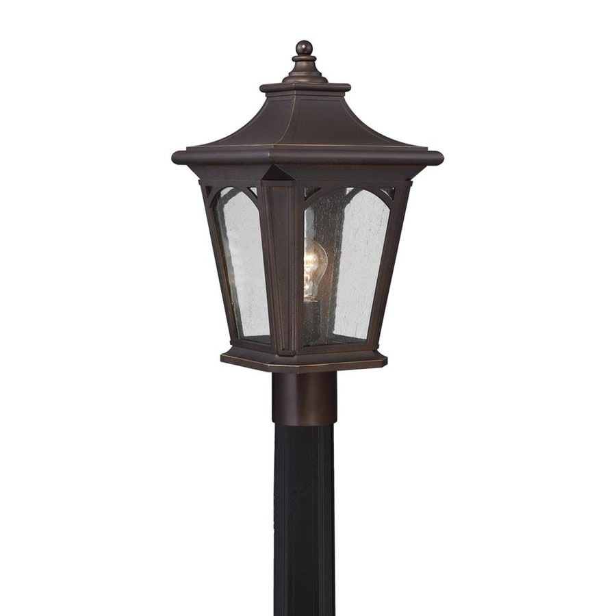 Quoizel Bedford 19-in H Palladian Bronze Post Light