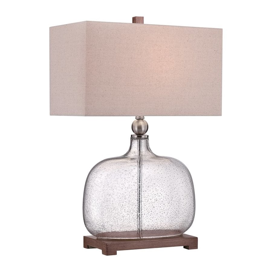 Quoizel Brookmont 26.5-in 3-Way Brushed Nickel Indoor Table Lamp with Fabric Shade