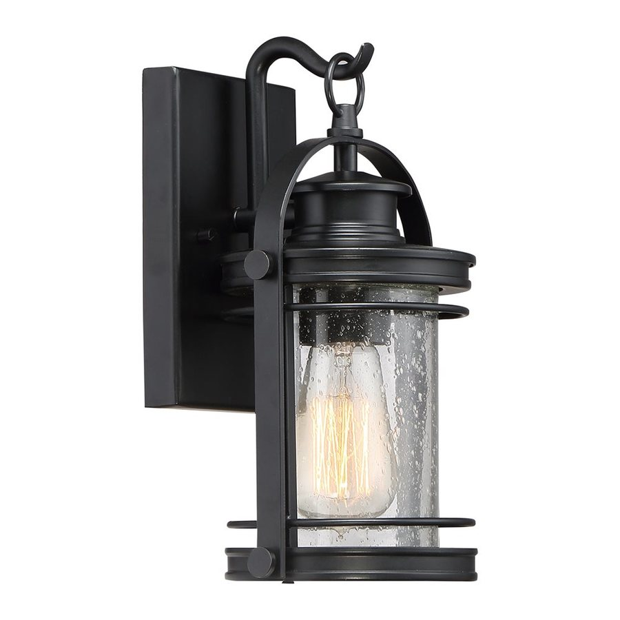 Quoizel Booker 11.5-in H Mystic Black Outdoor Wall Light