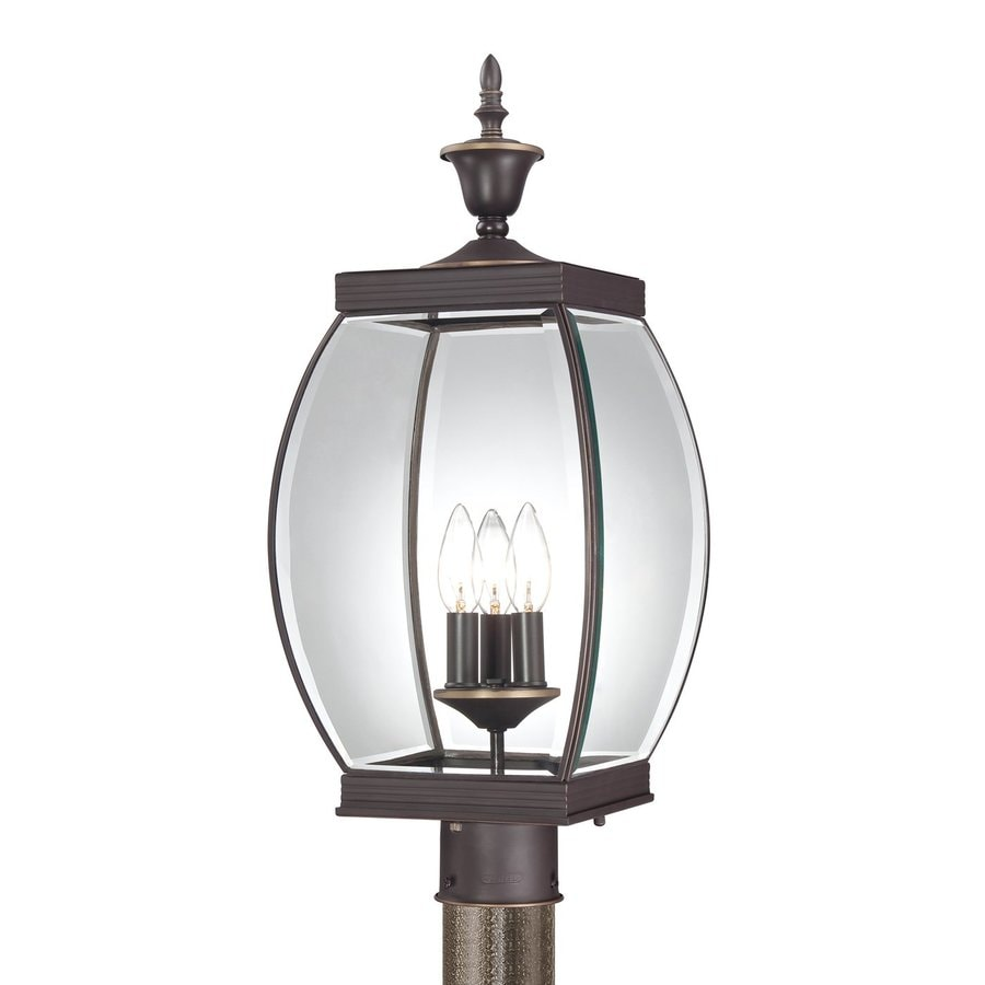 Quoizel Oasis 23-in H Medici Bronze Post Light
