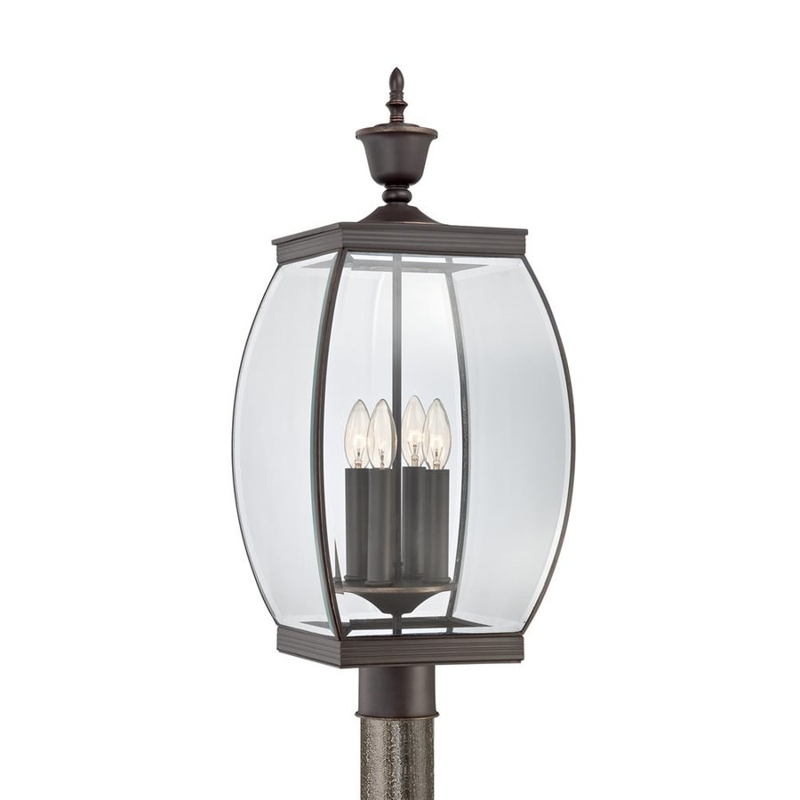 Quoizel Oasis 26.5-in H Medici Bronze Post Light