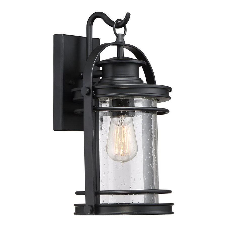 Quoizel Booker 15-in H Mystic Black Outdoor Wall Light