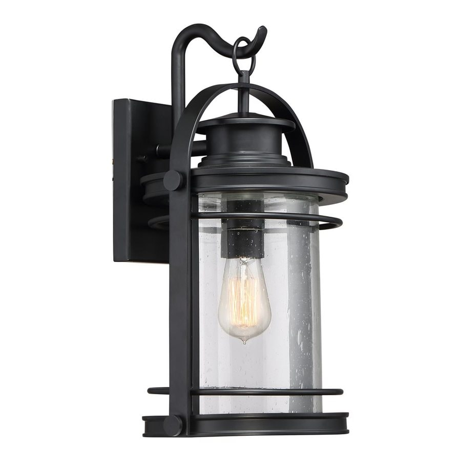Quoizel Booker 18.25-in H Mystic Black Outdoor Wall Light