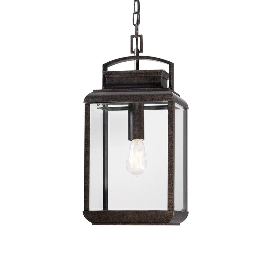 Quoizel Byron 20-in Imperial Bronze Outdoor Pendant Light