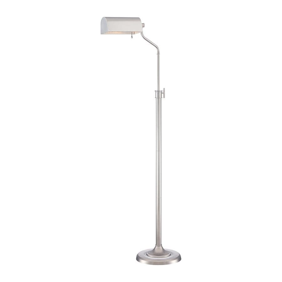 Quoizel Haskell 54.5-in Polished Nickel Downbridge Floor Lamp with Metal Shade