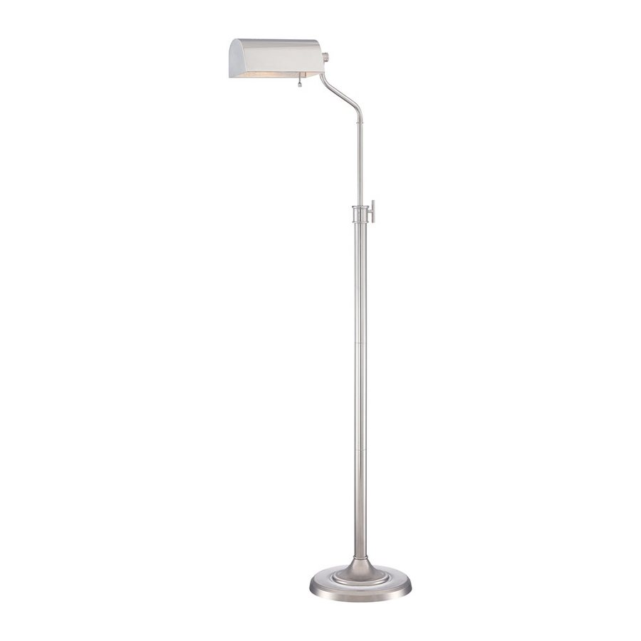 Quoizel Haskell 54.5-in Polished Nickel Indoor Floor Lamp with Metal Shade
