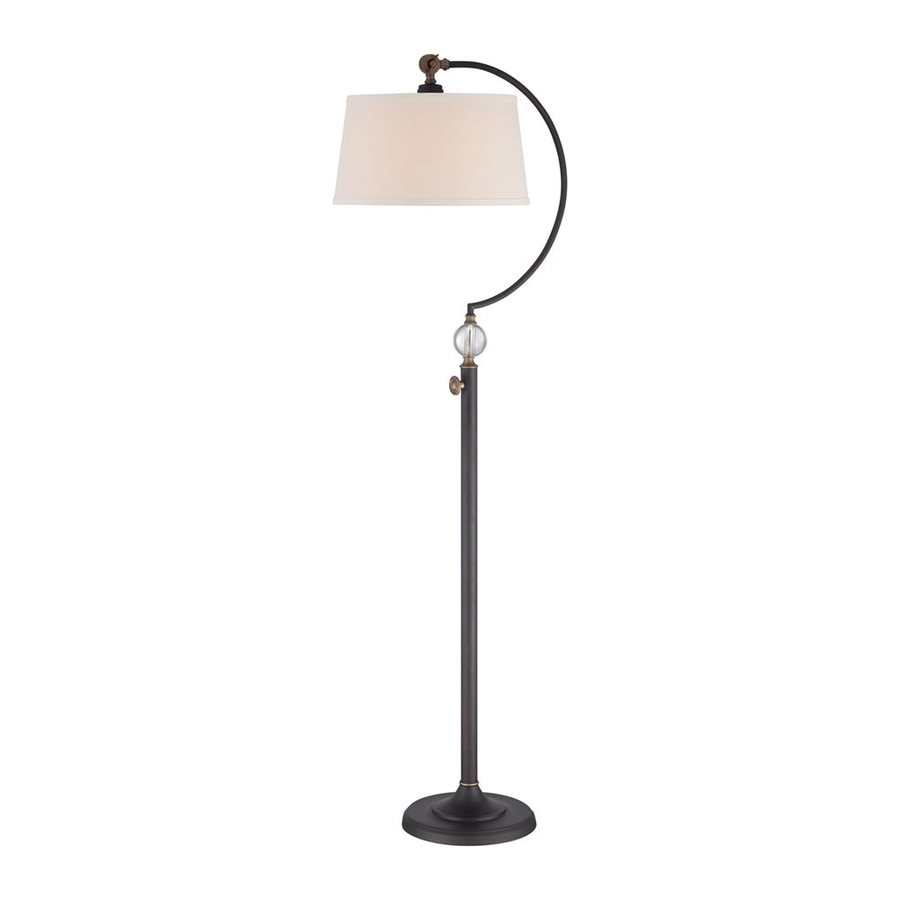 Quoizel Jenkins 56.5-in Oil-Rubbed Bronze Indoor Floor Lamp with Fabric Shade