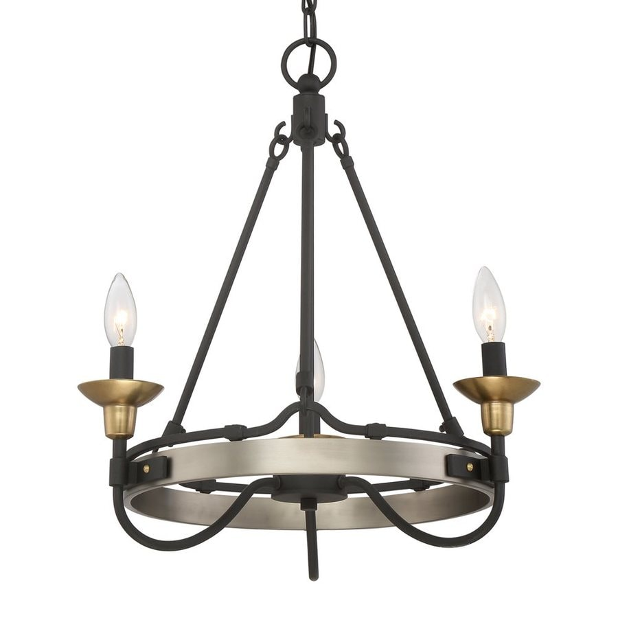 Quoizel Castle Hill 19-in 3-Light Antique Nickel Candle Chandelier
