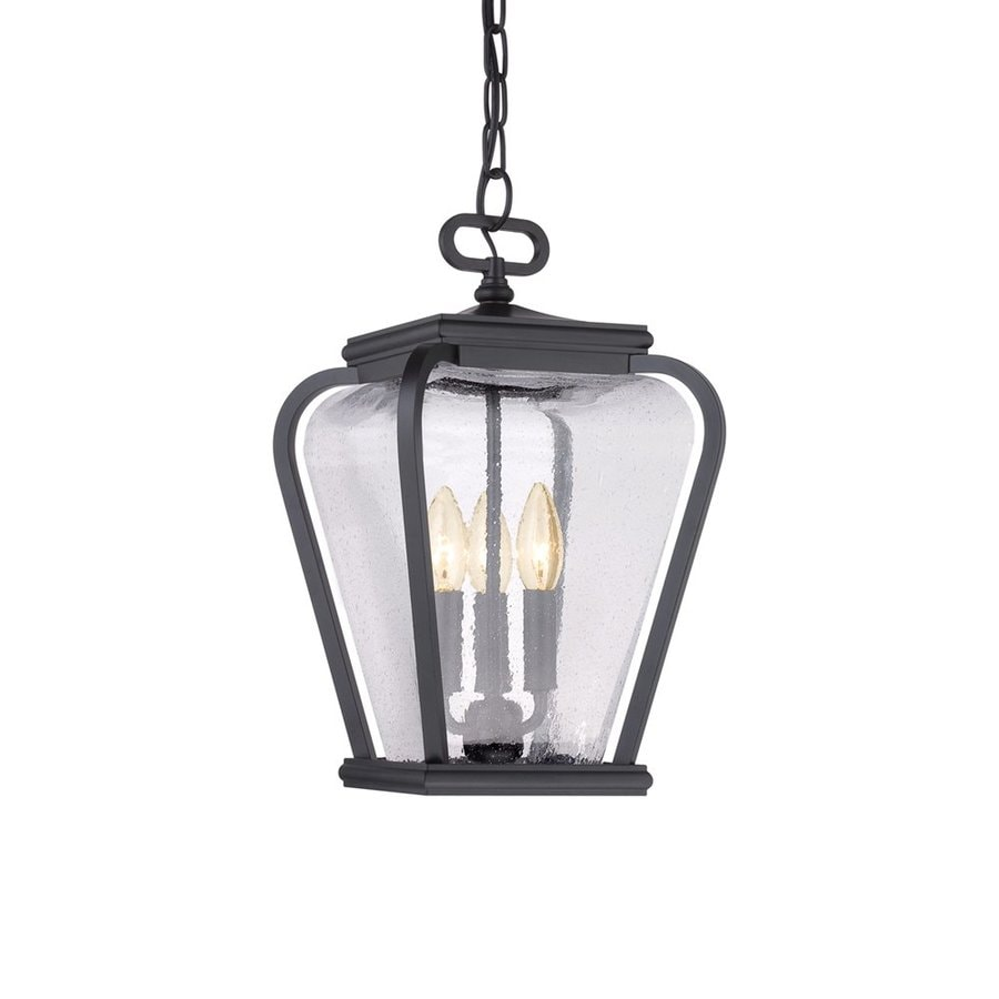 Quoizel Province 15.5-in Mystic Black Outdoor Pendant Light