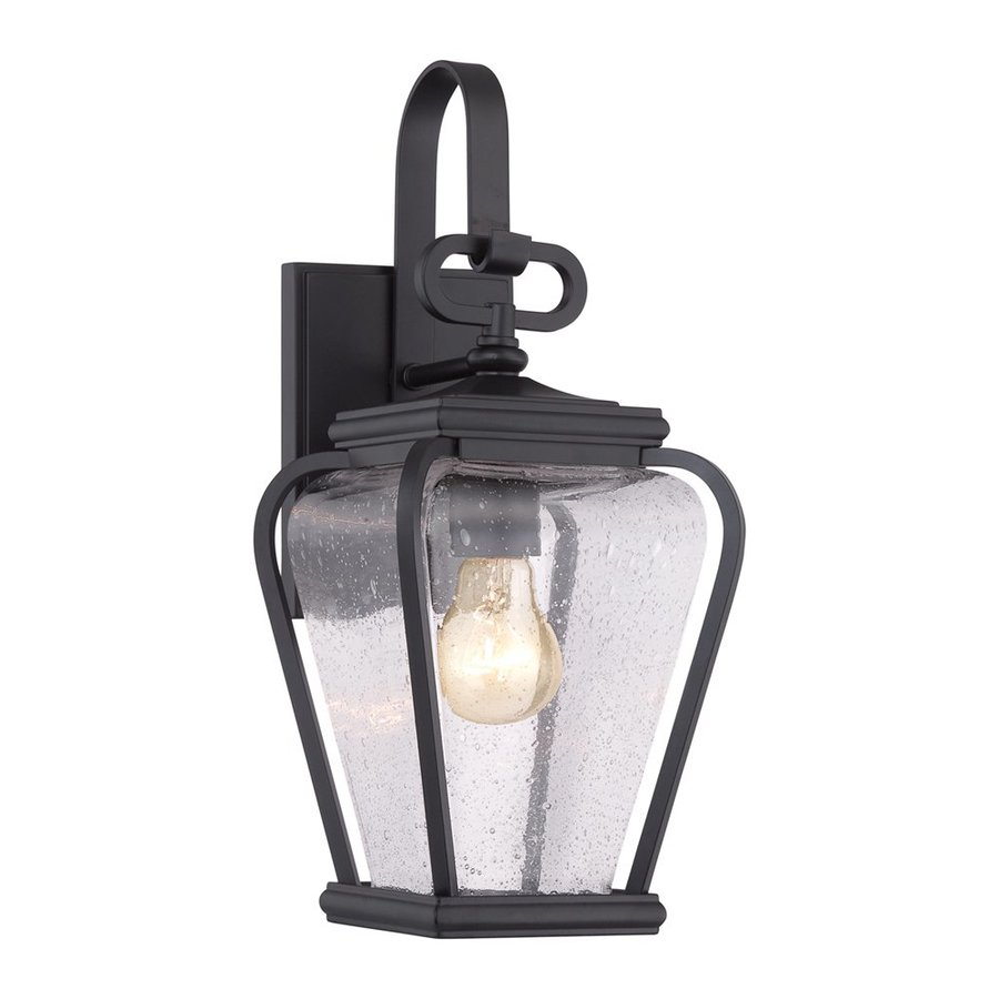 Quoizel Province 15.5-in H Mystic Black Medium Base (E26) Outdoor Wall Light