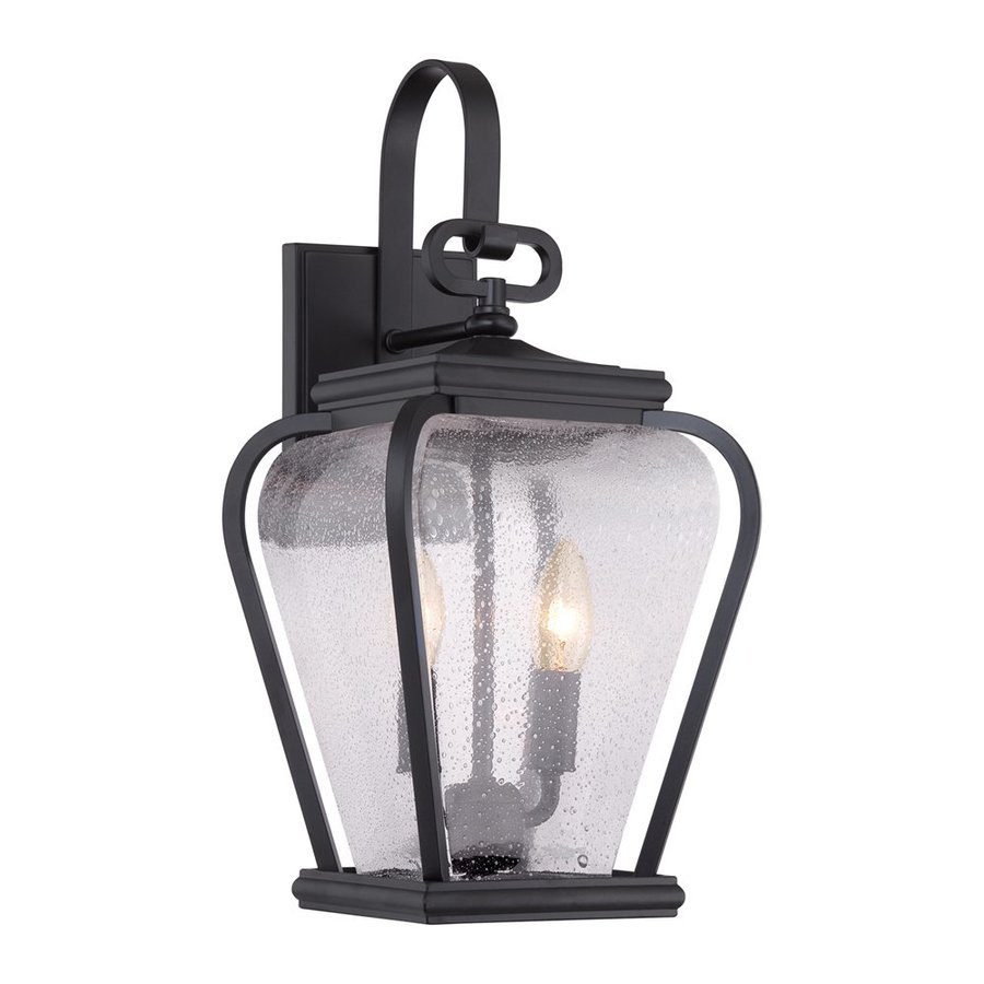 Quoizel Province 17.5-in H Mystic Black Outdoor Wall Light