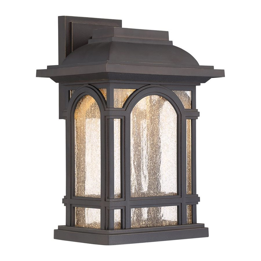 Quoizel Cathedral Led 13.5-in H Led Palladian Bronze Outdoor Wall Light
