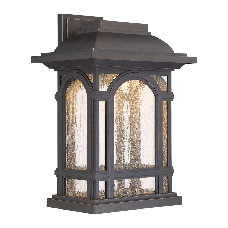Quoizel Cathedral Led 16.25-in H Led Palladian Bronze Outdoor Wall Light
