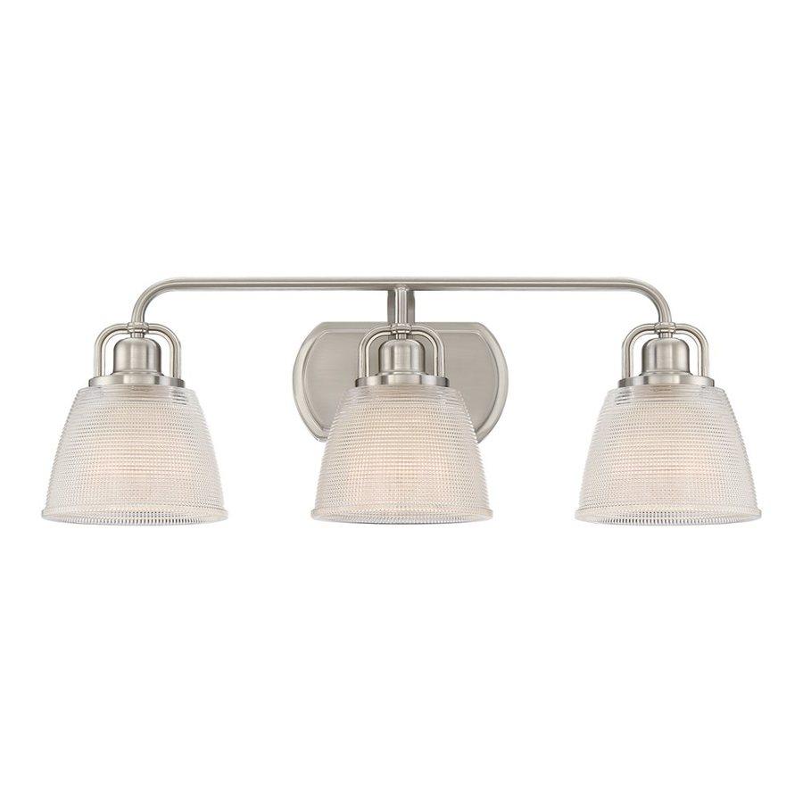 Quoizel Dublin 3-Light 8.75-in Brushed Nickel Bell Vanity Light