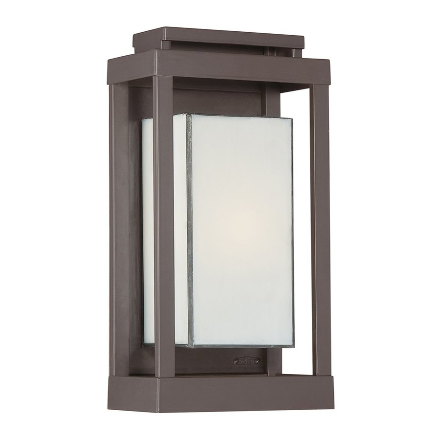 Quoizel Powell 13.5-in H Western Bronze Outdoor Wall Light