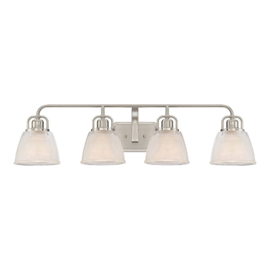 Quoizel Dublin 4-Light 8.75-in Brushed Nickel Bell Vanity Light