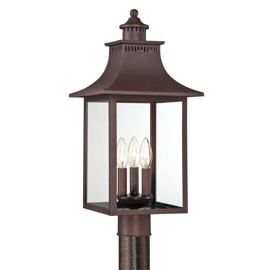 Quoizel Chancellor 21.75-in H Copper Bronze Post Light