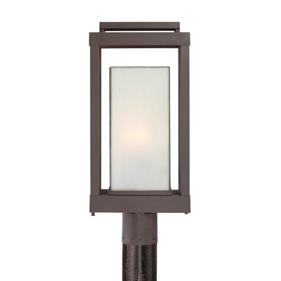 Quoizel Powell 20.5-in H Western Bronze Post Light