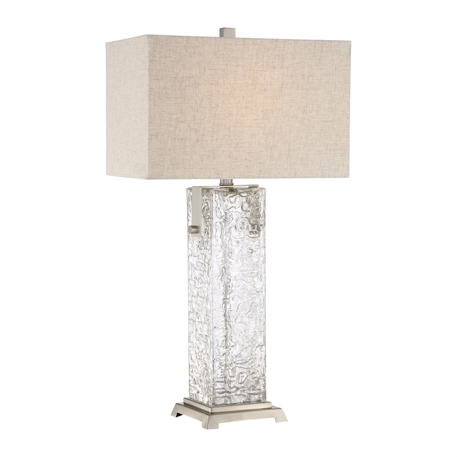 Quoizel Maze 29-in 3-Way Brushed Nickel Indoor Table Lamp with Fabric Shade