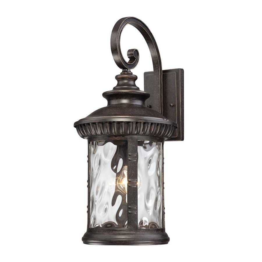 Outdoor Wall Light Fixtures Lowes : Shop Quoizel Chimera 22.5-in H Imperial Bronze Outdoor Wall Light at Lowes.com