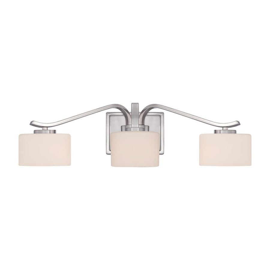 Quoizel Devlin 3-Light Brushed Nickel Cylinder Vanity Light