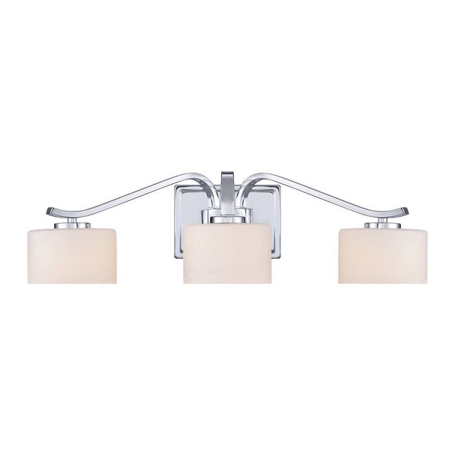 Quoizel Devlin 3-Light 6-in Polished Chrome Cylinder Vanity Light