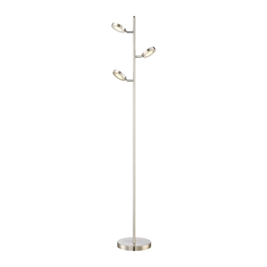 Quoizel Vane 61-in Brushed Nickel LED Indoor Floor Lamp with Metal Shade