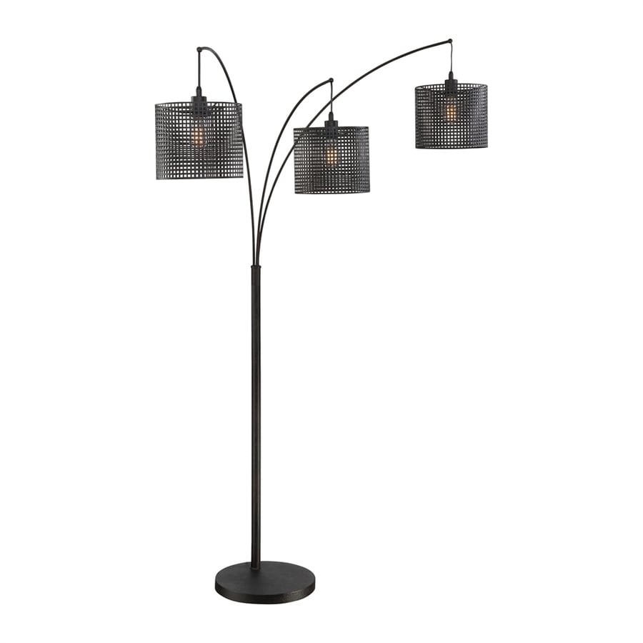 Quoizel Stargaze 93-in Three-Way Black Indoor Floor Lamp with Metal Shade