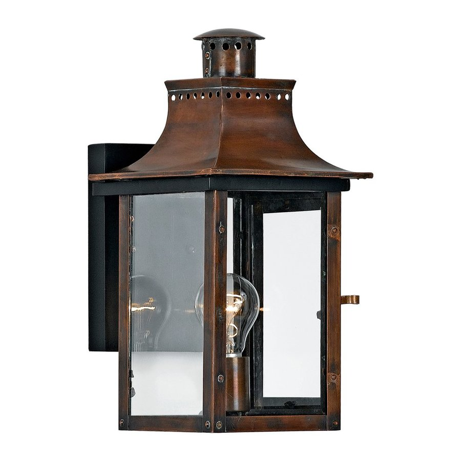 Quoizel Chalmers 15.5-in H Aged Copper Outdoor Wall Light