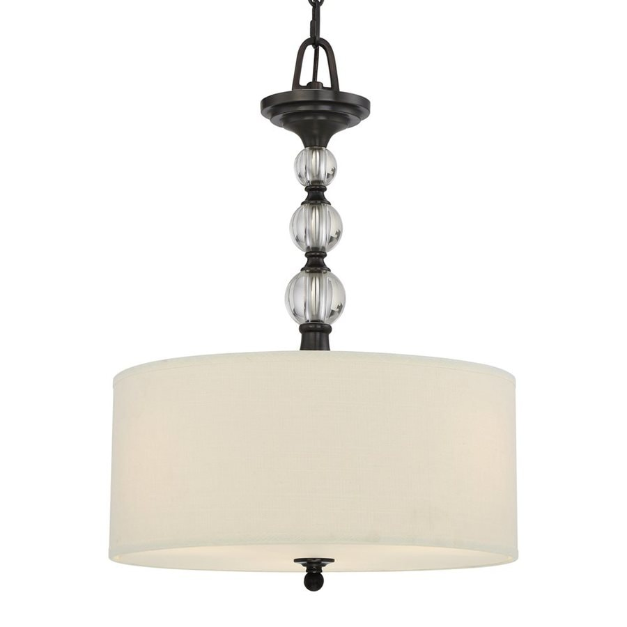 Quoizel Downtown 17-in Dusk Bronze Single Drum Pendant