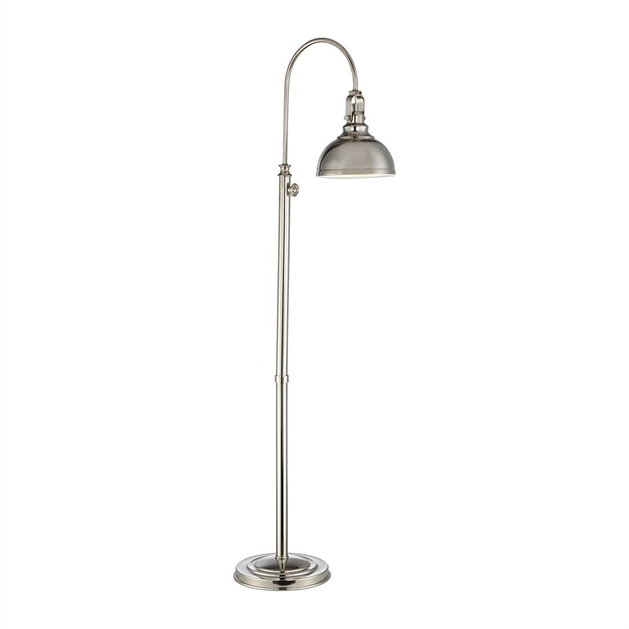 Quoizel Venton 58-in Polished Nickel Indoor Floor Lamp with Metal Shade