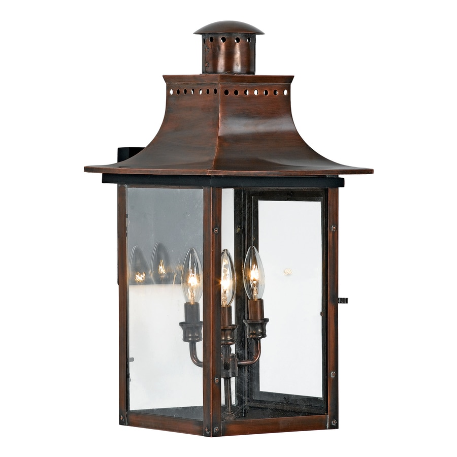 Quoizel Chalmers 23-in H Aged Copper Outdoor Wall Light