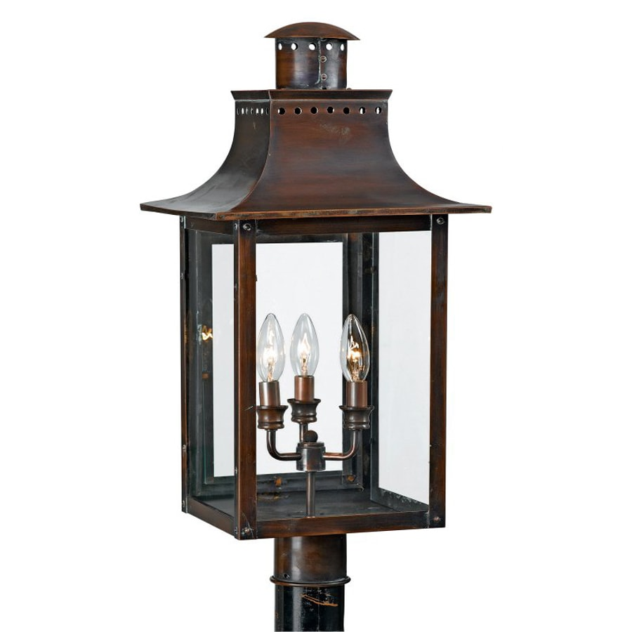 Quoizel Chalmers 26-in H Aged Copper Post Light