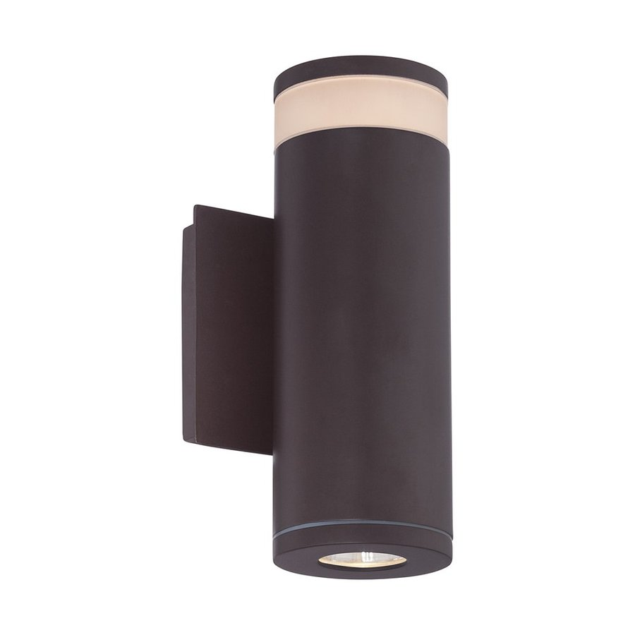 Quoizel Cole Led 10-in H Led Western Bronze Outdoor Wall Light