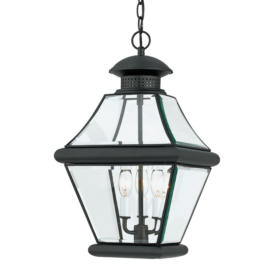 Quoizel Rutledge 19.5-in Mystic Black Outdoor Pendant Light
