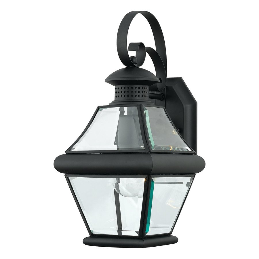 Quoizel Rutledge 15-in H Mystic Black Outdoor Wall Light