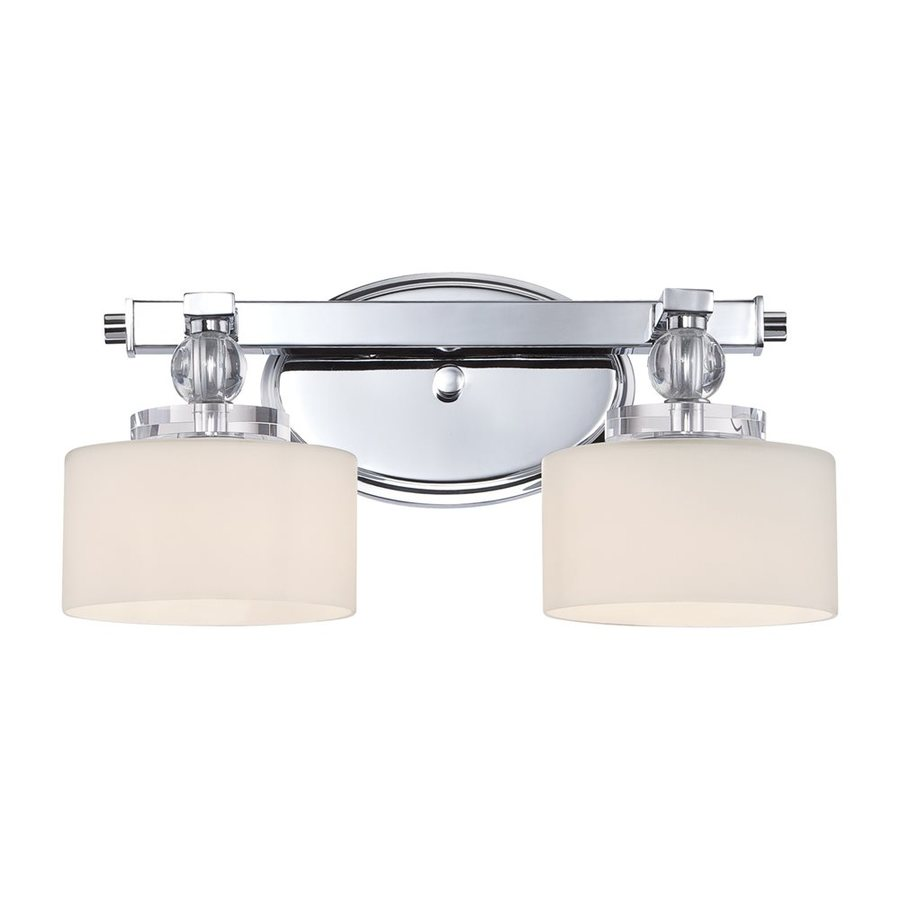 Quoizel Downtown 2-Light 7.25-in Polished Chrome Cylinder Vanity Light