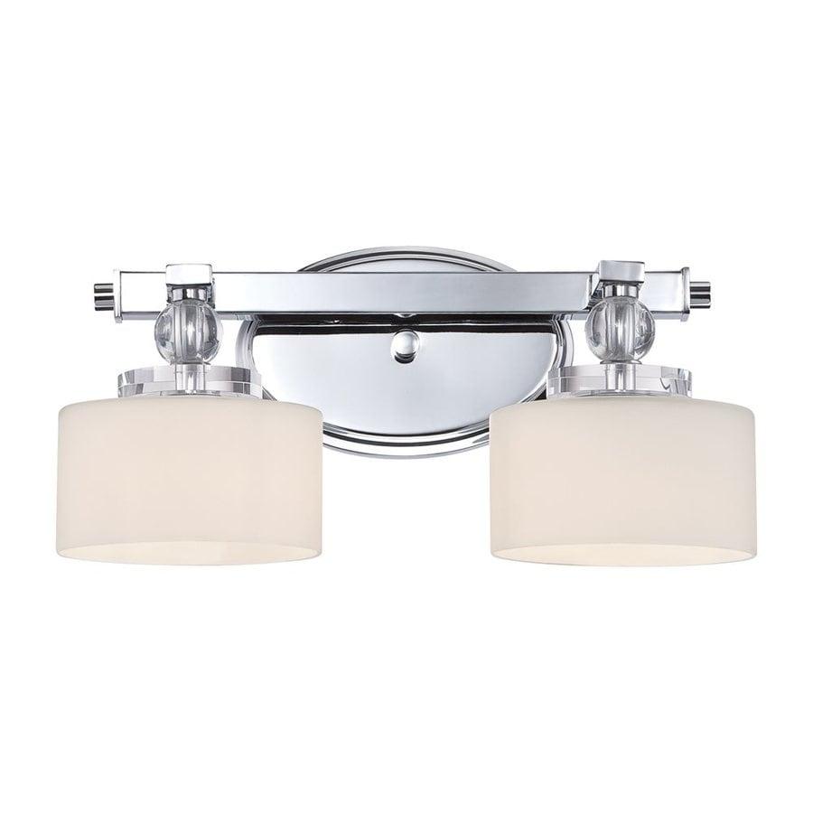 Quoizel Downtown 2-Light Polished Chrome Cylinder Vanity Light