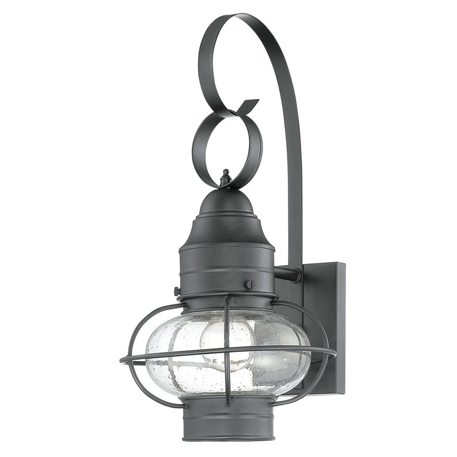 Quoizel Cooper 17.5-in H Mystic Black Medium Base (E26) Outdoor Wall Light