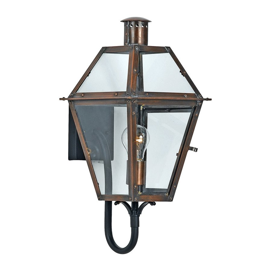 Quoizel Rue De Royal 20.5-in H Aged Copper Outdoor Wall Light